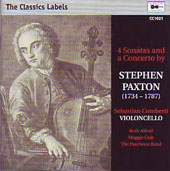 Paxton: 4 Sonatas anda Concerto / Sebastian Comberti, The Patheon Band
