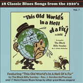 Various Artists: This Old World's in a Hell of a Fix! 18 Classic Blues Songs from the 1920's, Vol. 7