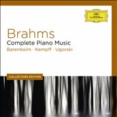 Brahms: Complete Piano Music / Barenboim, Kempff, Ugorski (pianists) [9 CDs]