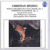 Sinding: Symphony no 1, Piano Concerto no 1 / Fjelstad