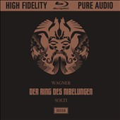 Wagner: Der Ring des Nibelungen - Remastered Audiophile edition, with libretti / Kirsten Flagstad, Hans Hotter, Birgit Nilsson, Christa Ludwig, Wolfgang Windgassen, Dietrich Fischer-Dieskau; Vienna Philharmonic; Georg Solti [4 Blu-Ray Audio]