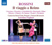 Rossini: The Journey to Reims, opera / Laura Giordano, Alessandra Marianelli, soprano; Maxim Mironov, tenor;  Mirco Palazzi, bass; Camerata Bach Posen, Virtuosi Brunensis, Antonino Fogliani