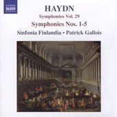 Haydn: Symphonies Vol 29 / Gallois, Sinfonia Finlandia