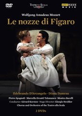Mozart: The Marriage of Figaro / Korsten, Damrau, D'Arcangelo, Spagnoli [2 DVD]