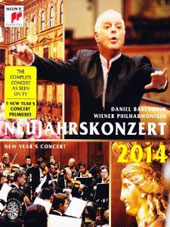 New Year's Concert 2014 - works by the Strauss family, Richard Strauss, Delibes, Hellmesberger, Lanner / Barenboim, Vienna PO [DVD]