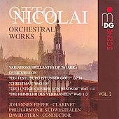 Otto Nicolai: Orchestral Works, Vol. 2
