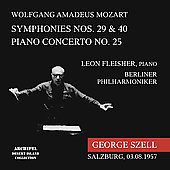 Mozart: Piano Concerto no 25, Symphonies no 29, 40 / Szell