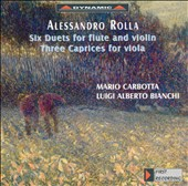 Alessandro Rolla: Six Duets for Flute & Viola/Three Caprices for Viola