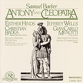 Barber: Antony and Cleopatra / Badea, Hinds, Wells