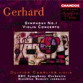 Gerhard: Symphony no 1, Violin Concerto / Bamert, Charlier