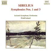 Sibelius: Symphonies no 1 & 3 / Sakari, Iceland Symphony