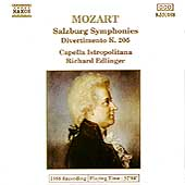 Mozart: Salzburg Symphonies, etc / Edlinger, Istropolitana