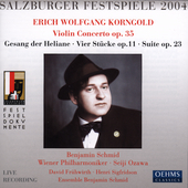 Korngold: Violin Concerto Op 35 / Schmid, Ozawa, Wiener PO