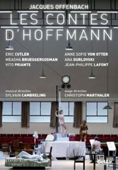 Offenbach: The Tales of Hoffmann / Eric Cutler, Anne Sofie Von Otter, Vito Priante, Christoph Homberger, Ana Durlovski, Measha Brueggergosman. Teatro Real de Madrid Orch. & Chorus, Cambreling [DVD]