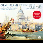 Geminiani: Concerti Grossi VII-XII / Manze, et al