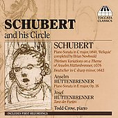 Schubert and his Circle - Piano Works / Todd Crow