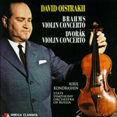 Brahms and Dvorak: Violin Concertos / David Oistrakh, violin. Kondrashin, State SO of Russia