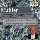 Mahler: Symphonies no 1 & 4 / Farberman, London Symphony