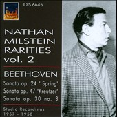 Nathan Milstein Rarities, Vol. 2 - Beethoven: Sonata Op. 24 
