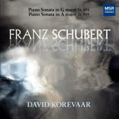 Franz Schubert: Piano Sonata in G major D.894; Piano Sonata in A major D. 959 / David Korevaar, piano