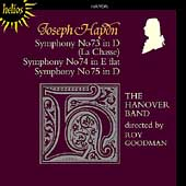 Haydn: Symphonies no 73, 74, 75 / Roy Goodman, Hanover Band