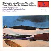Bartók: Viola Concerto;  Bloch: Suite / Thompson, Freeman