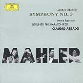 Mahler: Symphony no 3 / Abbado, Larsson, Berlin PO