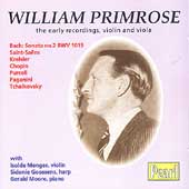 William Primrose - The Early Recordings - Violin and Viola