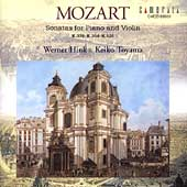 Mozart: Sonatas for Violin and Piano / Hink, Toyama