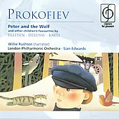 Prokofiev: Peter & the Wolf;  Debussy, Ravel, Britten / Sian Edwards, Willie Rushton, LPO, et al