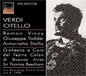 Verdi: Otello / Beecham, Stella, Vinay, et al