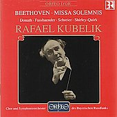Beethoven: Missa Solemnis / Kubelik, Donath, Fassbaender