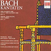 Bach: Kantaten BWV 29, 119 / Rotzsch, Werner, Riess, et al