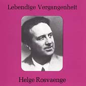 Lebendige Vergangenheit - Helge Roswaenge