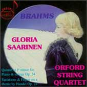 Brahms: Piano Quintet, etc / Saarinen, Orford Quartet
