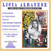 Licia Albanese - Early Live Performances 1937-1949