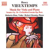 Vieuxtemps: Music for Viola and Piano / Diaz, Koenig