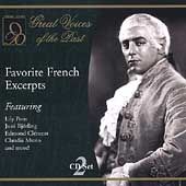 Great Voices of the Past - Favorite French Excerpts