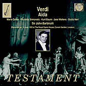 Verdi: Aida / Barbirolli, Callas, Baum, Simionato, et al