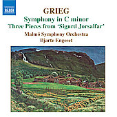 Grieg: Symphony in C minor, etc / Bjarte Engeset, Malm&ouml; SO