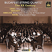 The 20th Century -Grieg, Ravel, etc /Budapest String Quartet