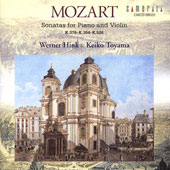 Mozart: Sonatas for Violin and Piano / Werner Hink, Keiko Toyama