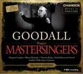 Wagner: The Mastersingers of Nuremberg / Goodall, Bailey, Mangin, Sadler's Wells Opera Orchestra, et al