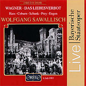 Wagner: Das Liebesverbot / Sawallisch, Hass, Coburn, et al
