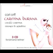 Orff: Carmina Burana; Catulli Carmina; Trionf di Afrodite / Putz, Grobe, Cousins, McDaniel et al. Ferdinand Leitner