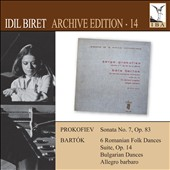 Idil Biret Archive Edition, Vol. 14: Prokofiev: Sonata no 7; Bartók: Romanian Folk Dances; Suite, Op. 14; Bulgarian Dances / Idil Biret, piano