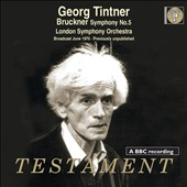 Bruckner: Symphony No. 5 / Georg Tintner, London SO (Broadcast June 1970, Previously Unpublished)