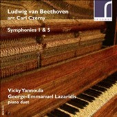 Ludwig van Beethoven: Symphonies 1 & 5 (arr. Carl Czerny for piano duet) / Vicky Yannoula & George-Emmanuel Lazaridis: pianos