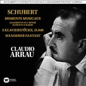 Schubert: Moment Musical; 3 Piano pieces; Wanderer Fantasy / Claudio Arrau, piano