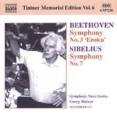 Tintner Memorial Vol 6 - Beethoven: Symphony no 3; Sibelius